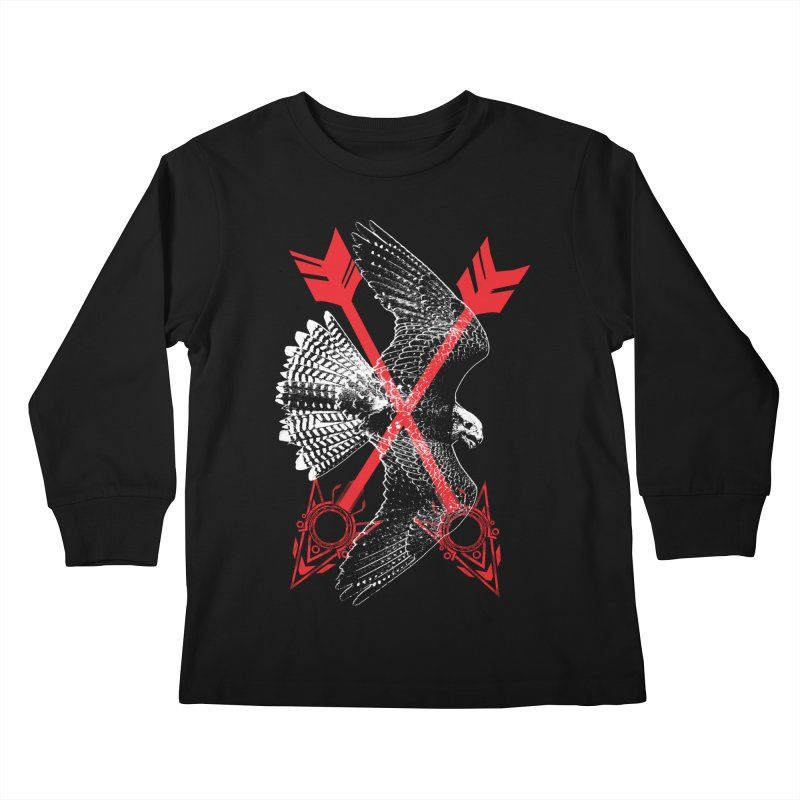 Falcon Arrows Kids Longsleeve T-Shirt by inbrightestday's Artist Shop