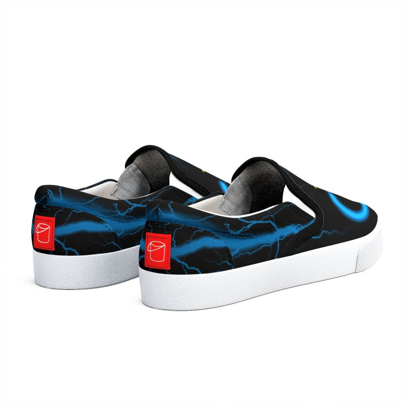 Blue Thunder Bomb Men's Shoes by inbrightestday's Artist Shop