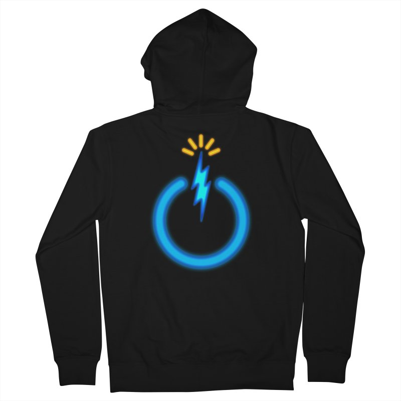 Blue Thunder Bomb Women's French Terry Zip-Up Hoody by inbrightestday's Artist Shop