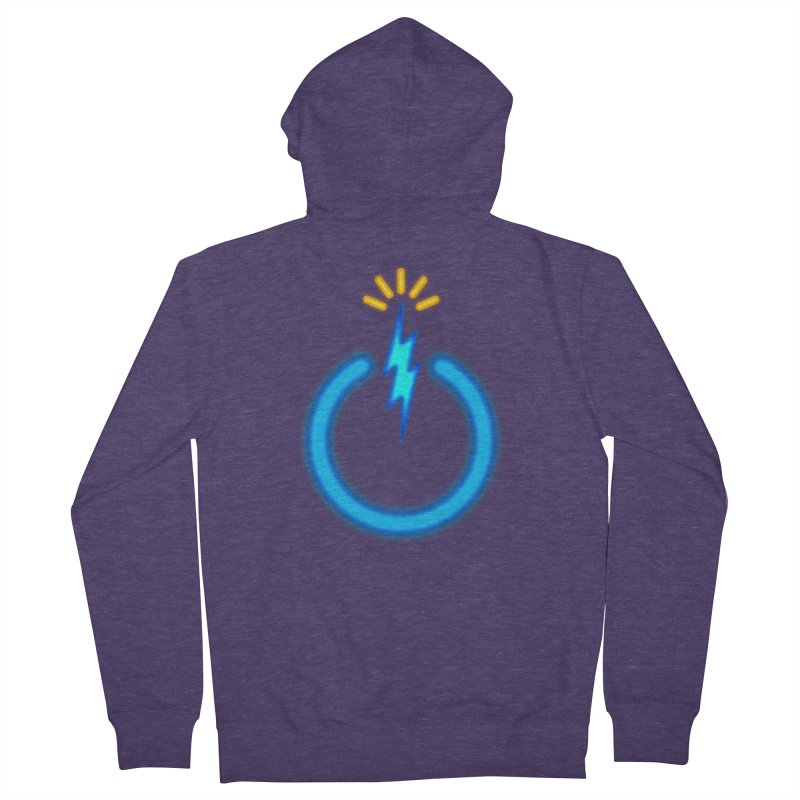 Blue Thunder Bomb Men's French Terry Zip-Up Hoody by inbrightestday's Artist Shop