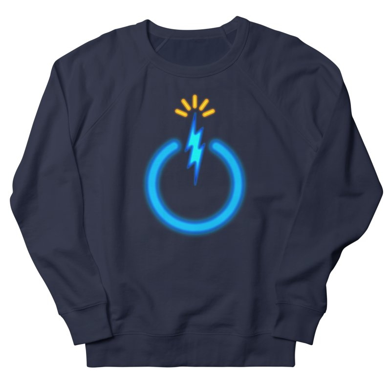 Blue Thunder Bomb Women's French Terry Sweatshirt by inbrightestday's Artist Shop