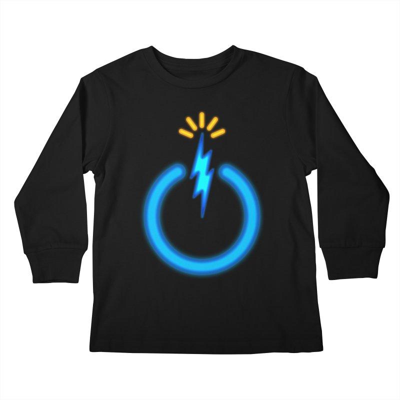Blue Thunder Bomb Kids Longsleeve T-Shirt by inbrightestday's Artist Shop