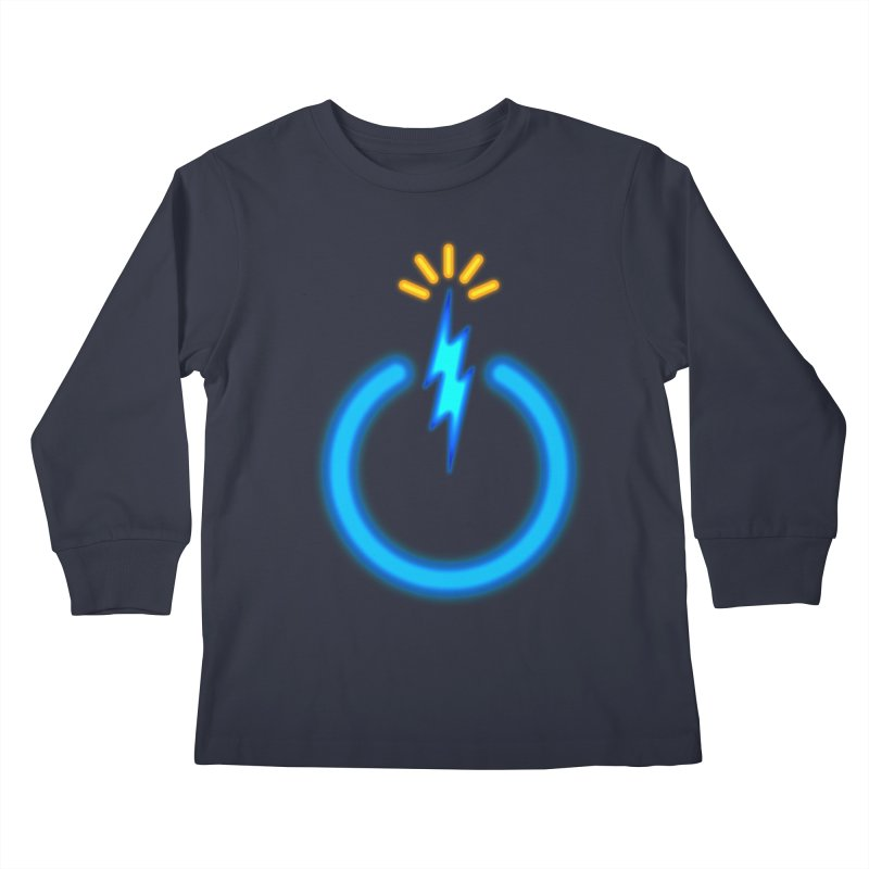 Blue Thunder Bomb Kids Longsleeve T-Shirt by inbrightestday's Artist Shop