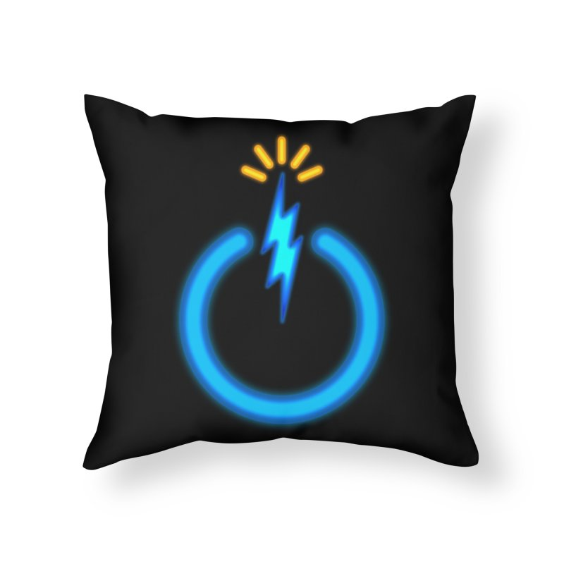 Blue Thunder Bomb Home Throw Pillow by inbrightestday's Artist Shop