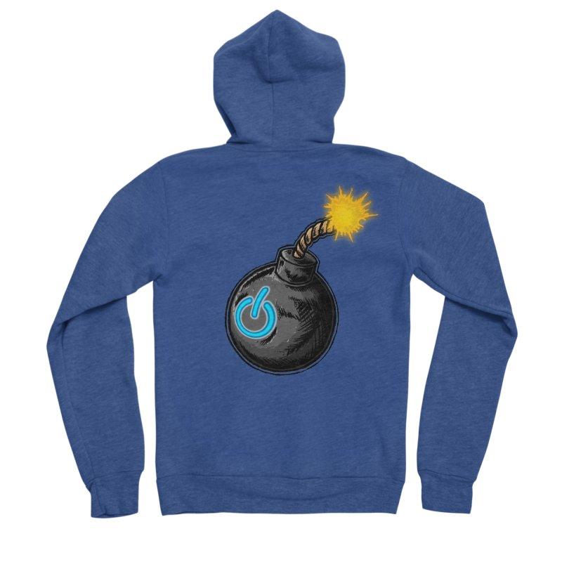 Bomb of Power Women's Sponge Fleece Zip-Up Hoody by inbrightestday's Artist Shop