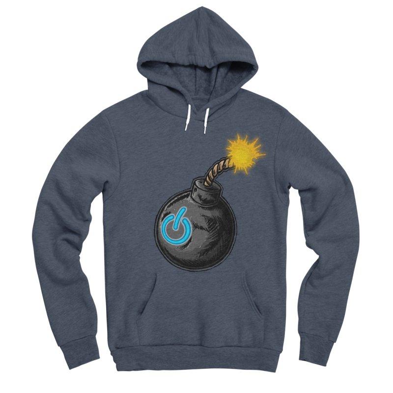 Bomb of Power Men's Sponge Fleece Pullover Hoody by inbrightestday's Artist Shop
