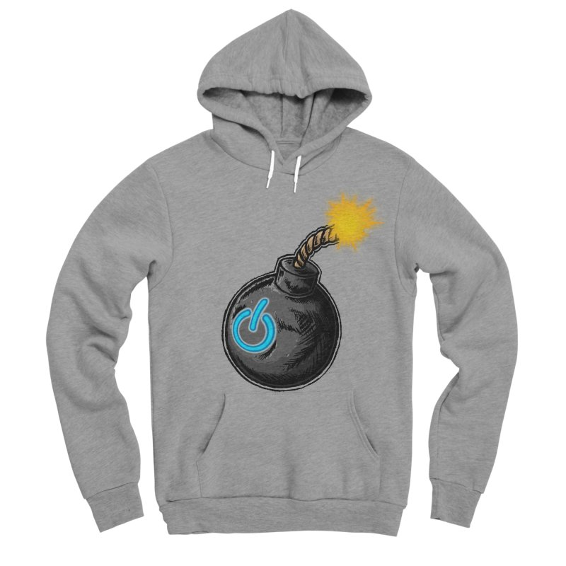 Bomb of Power Men's Sponge Fleece Pullover Hoody by inbrightestday's Artist Shop