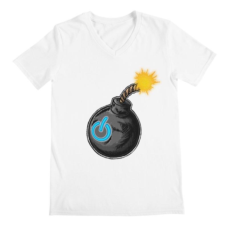 Bomb of Power Men's V-Neck by inbrightestday's Artist Shop