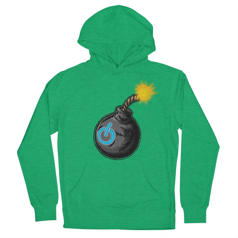 Bomb of Power Men's French Terry Pullover Hoody by inbrightestday's Artist Shop