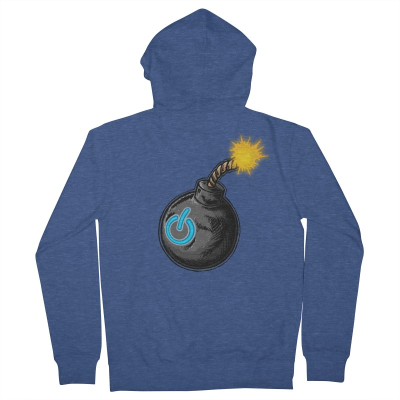 Bomb of Power Women's French Terry Zip-Up Hoody by inbrightestday's Artist Shop