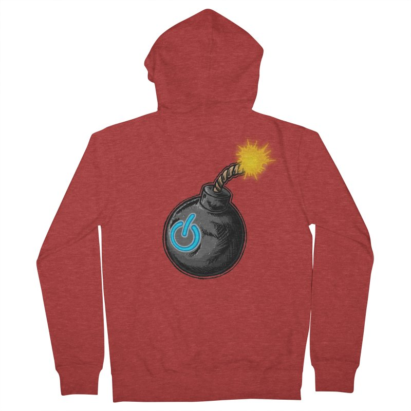 Bomb of Power Men's French Terry Zip-Up Hoody by inbrightestday's Artist Shop