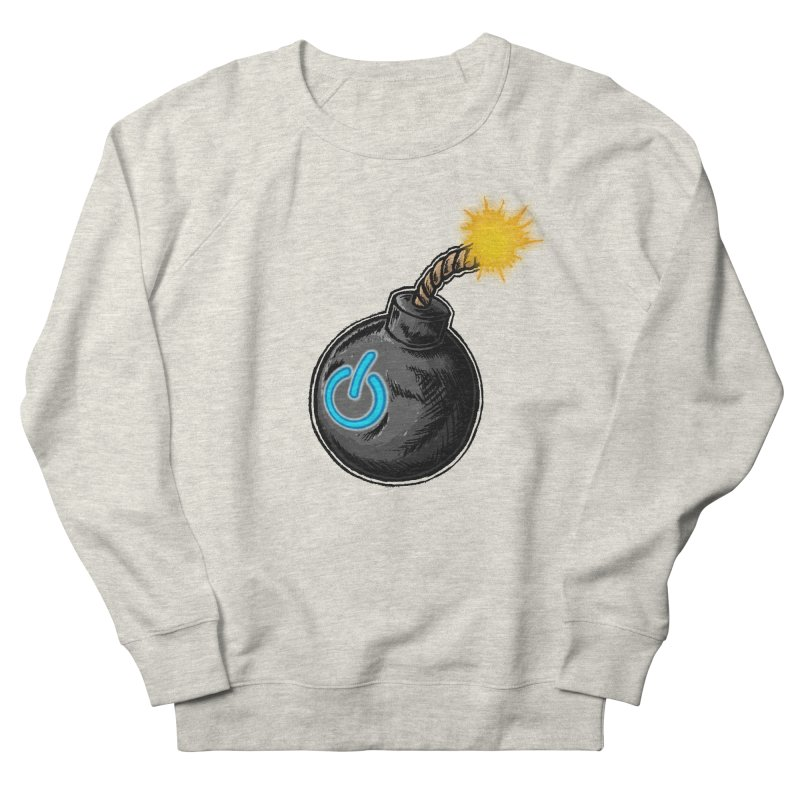 Bomb of Power Men's French Terry Sweatshirt by inbrightestday's Artist Shop