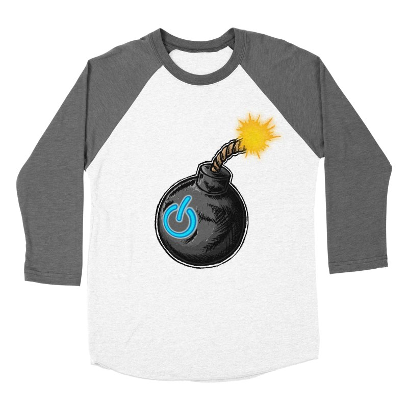 Bomb of Power Men's Baseball Triblend Longsleeve T-Shirt by inbrightestday's Artist Shop