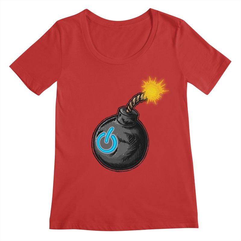 Bomb of Power Women's Regular Scoop Neck by inbrightestday's Artist Shop