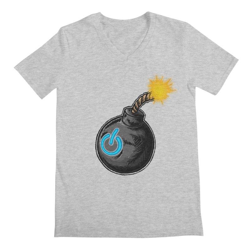 Bomb of Power Men's Regular V-Neck by inbrightestday's Artist Shop