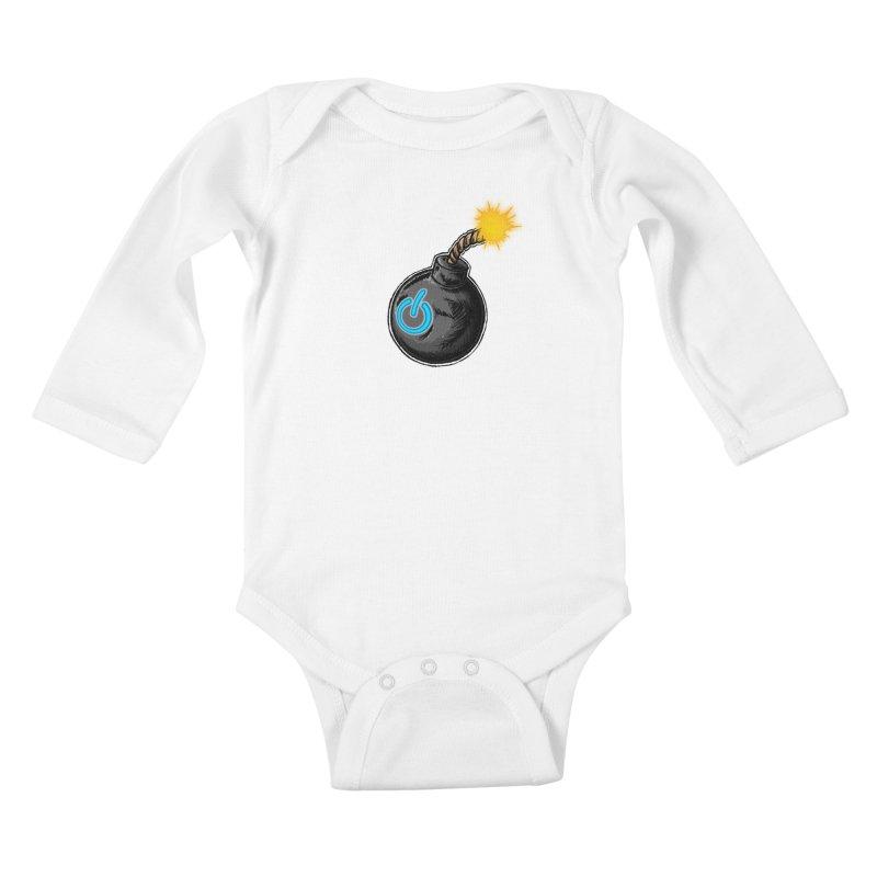 Bomb of Power Kids Baby Longsleeve Bodysuit by inbrightestday's Artist Shop