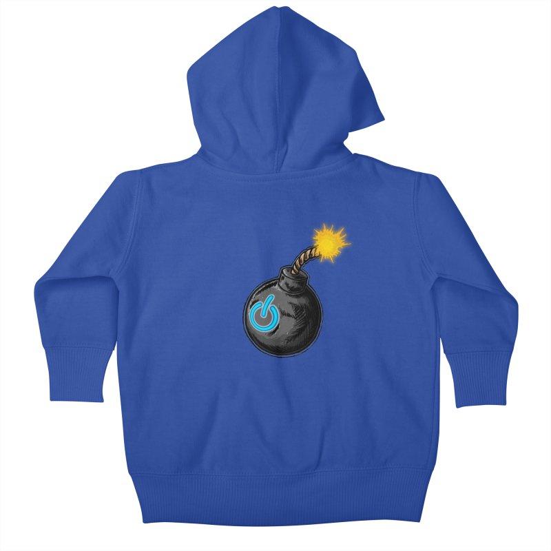 Bomb of Power Kids Baby Zip-Up Hoody by inbrightestday's Artist Shop