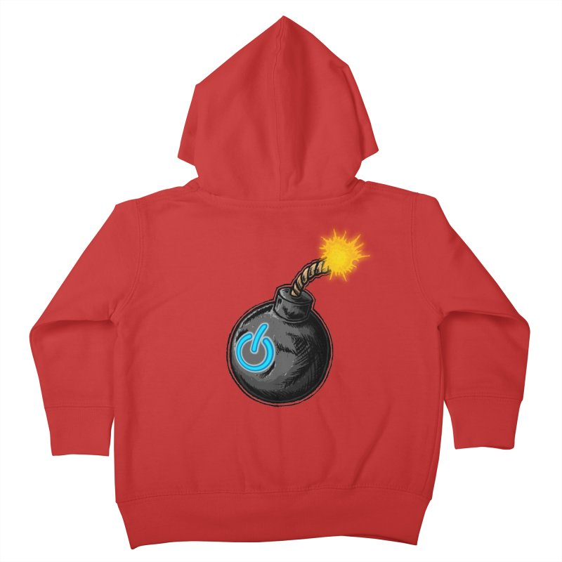 Bomb of Power Kids Toddler Zip-Up Hoody by inbrightestday's Artist Shop