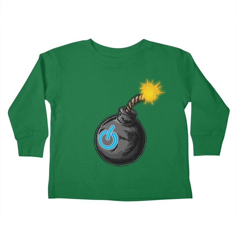 Bomb of Power Kids Toddler Longsleeve T-Shirt by inbrightestday's Artist Shop