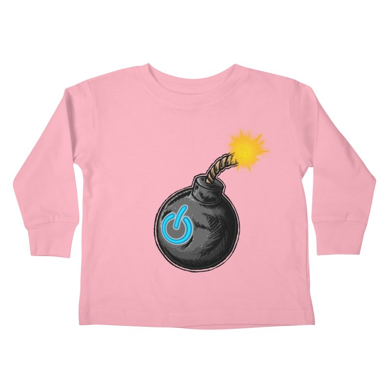 Bomb of Power Kids Toddler Longsleeve T-Shirt by inbrightestday's Artist Shop