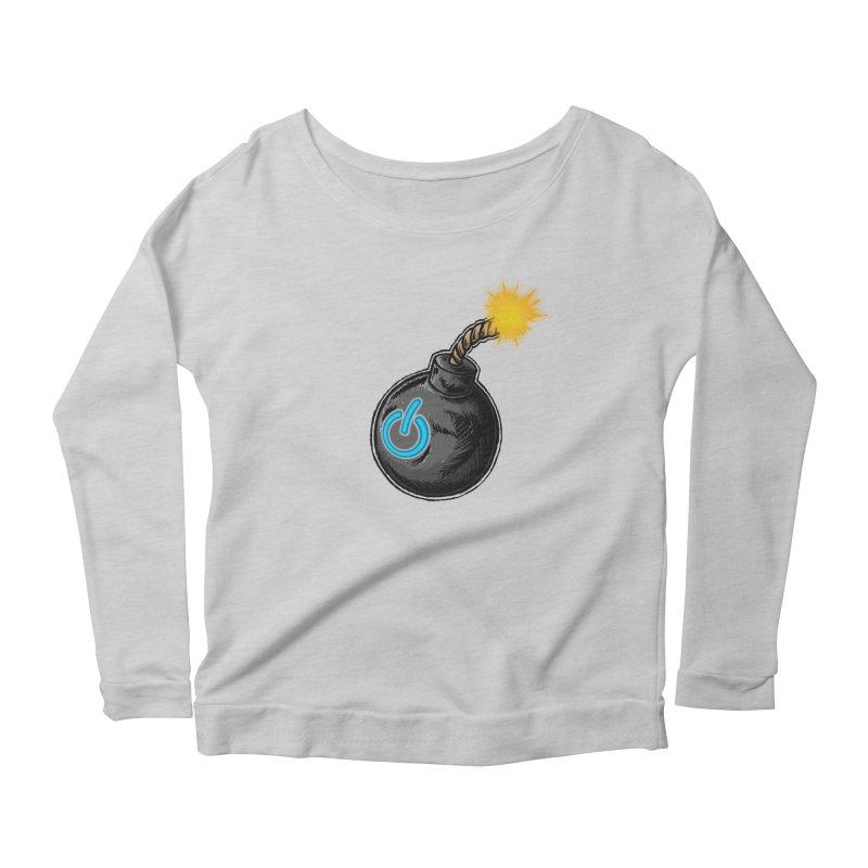 Bomb of Power Women's Scoop Neck Longsleeve T-Shirt by inbrightestday's Artist Shop