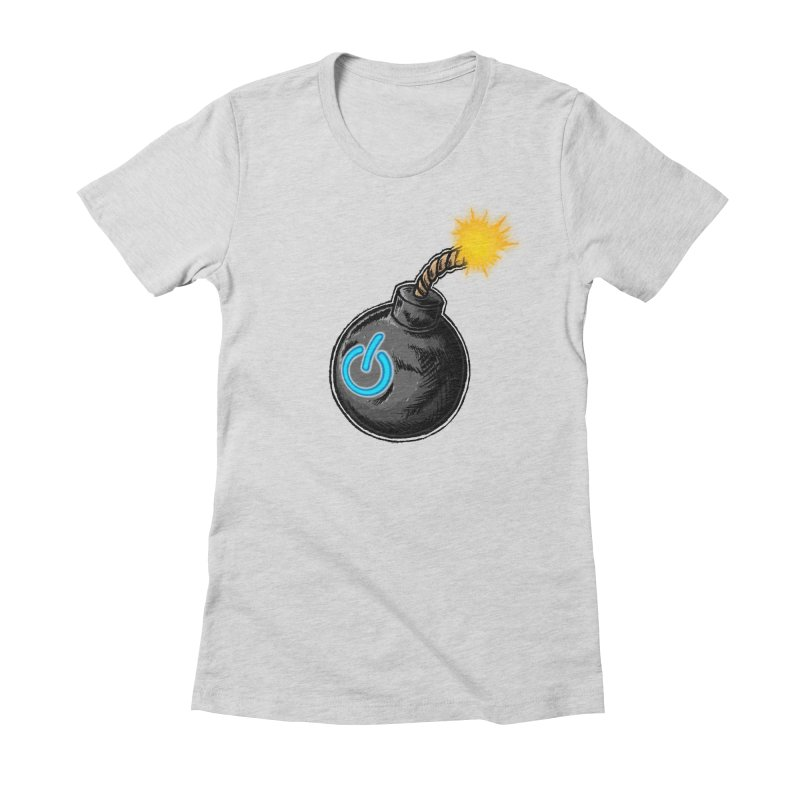 Bomb of Power Women's Fitted T-Shirt by inbrightestday's Artist Shop