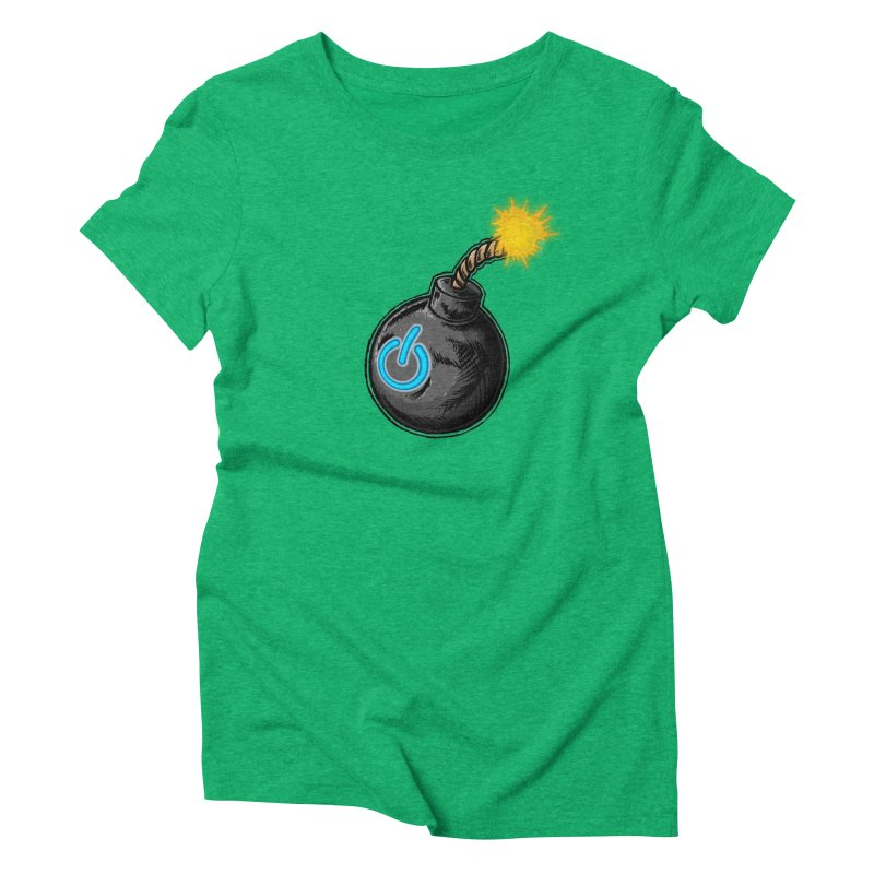 Bomb of Power Women's Triblend T-Shirt by inbrightestday's Artist Shop