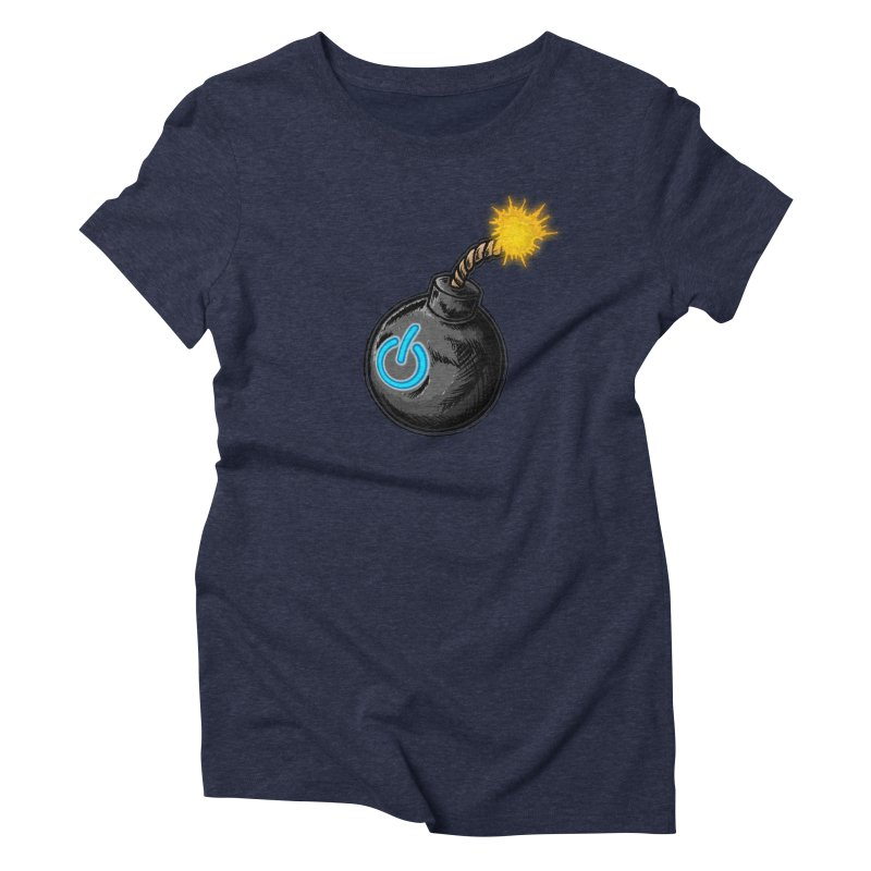 Bomb of Power Women's Triblend T-Shirt by inbrightestday's Artist Shop
