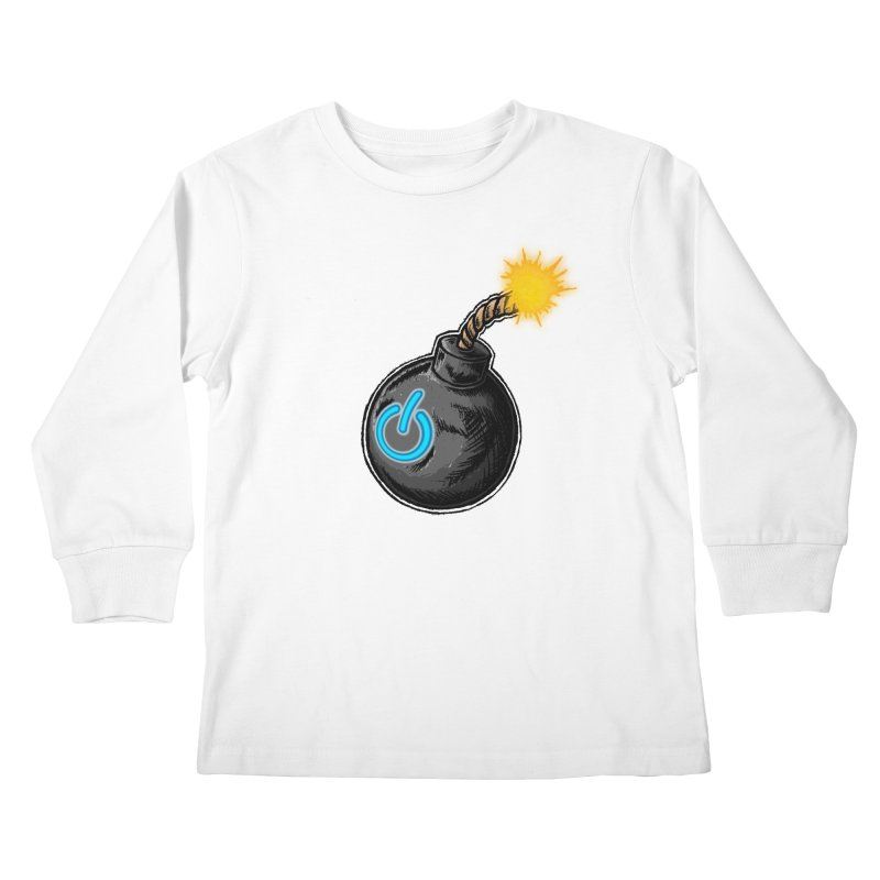 Bomb of Power Kids Longsleeve T-Shirt by inbrightestday's Artist Shop