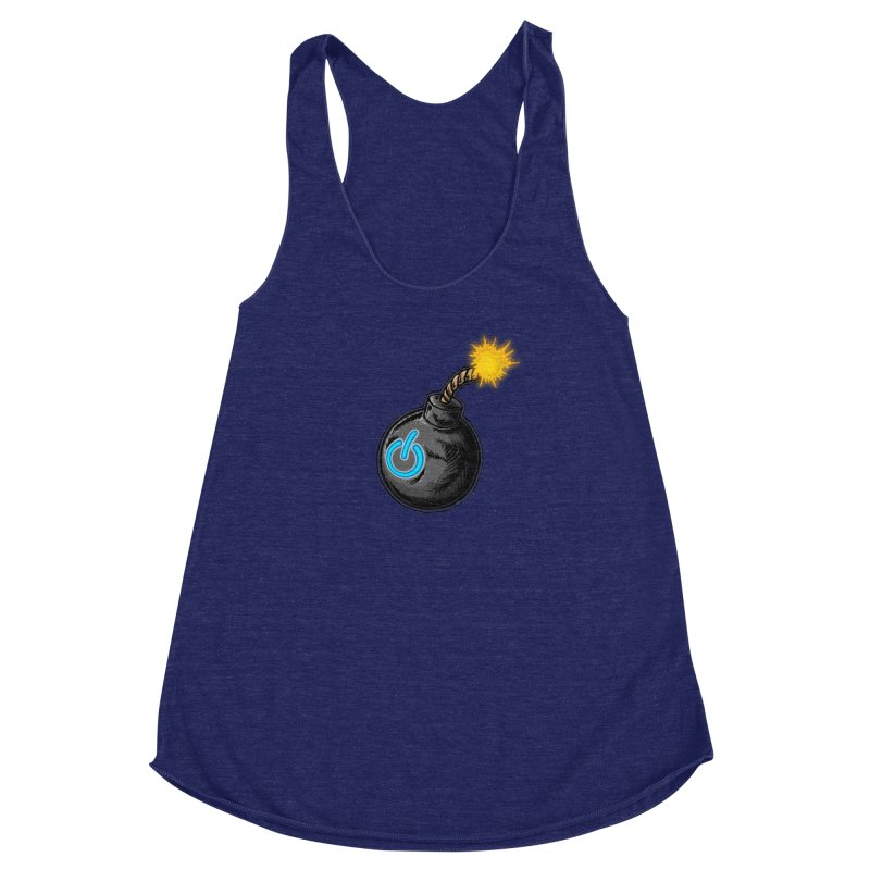 Bomb of Power Women's Racerback Triblend Tank by inbrightestday's Artist Shop