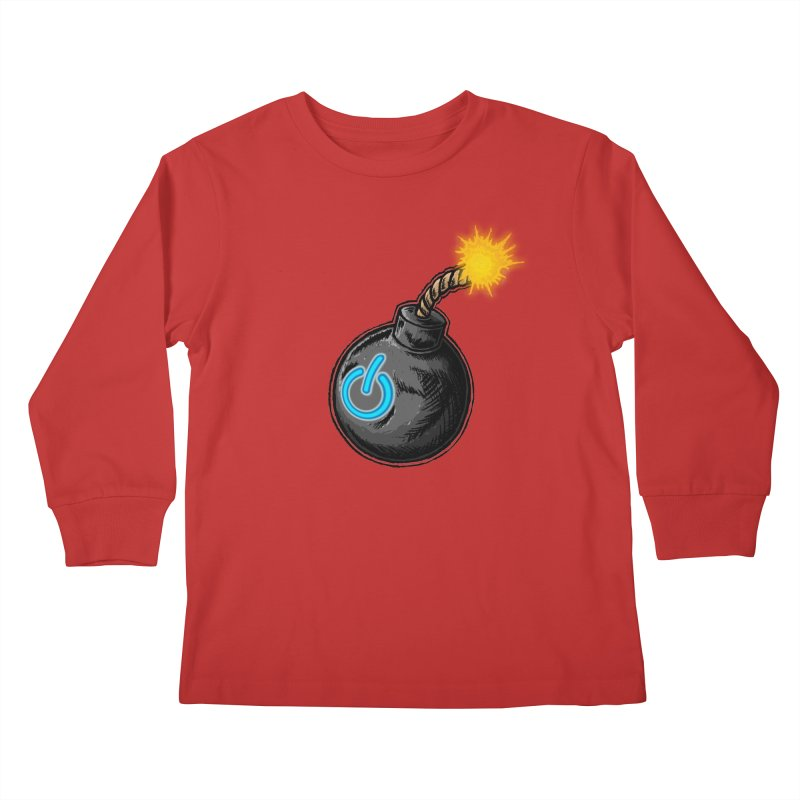 Bomb of Power Kids Longsleeve T-Shirt by inbrightestday's Artist Shop