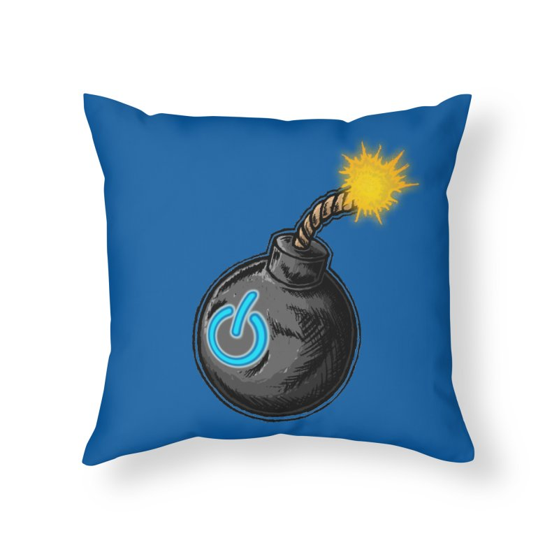 Bomb of Power Home Throw Pillow by inbrightestday's Artist Shop