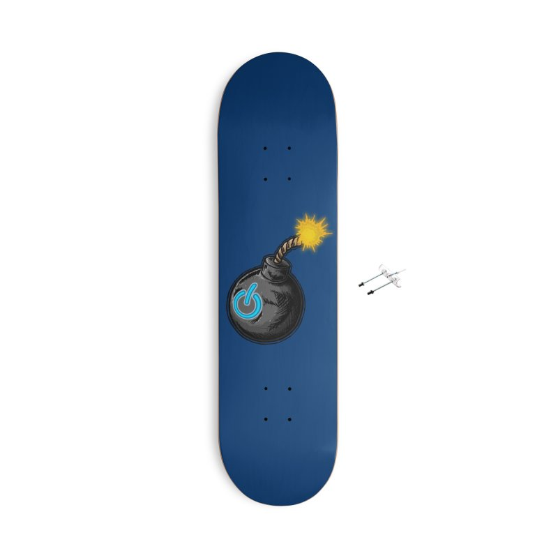 Bomb of Power Accessories With Hanging Hardware Skateboard by inbrightestday's Artist Shop