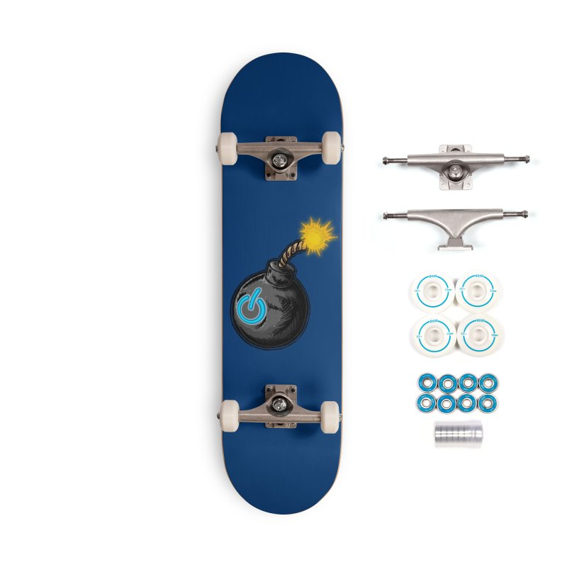 Bomb of Power Accessories Skateboard by inbrightestday's Artist Shop