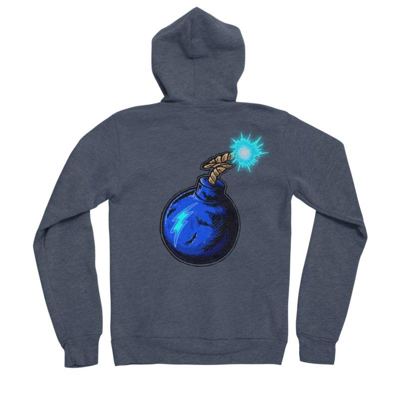 Bomb of Blue Thunder Men's Sponge Fleece Zip-Up Hoody by inbrightestday's Artist Shop