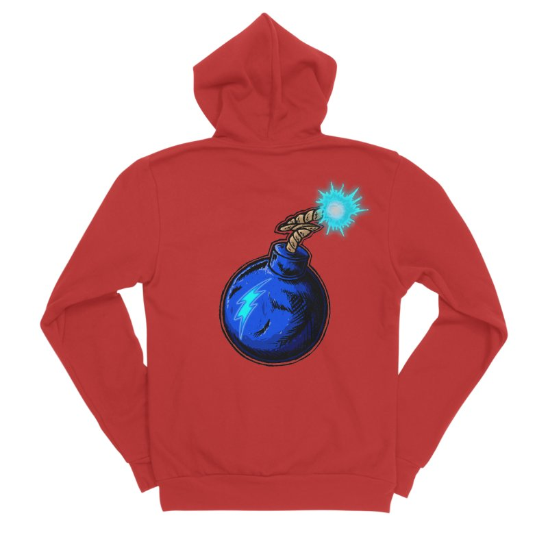 Bomb of Blue Thunder Men's Sponge Fleece Zip-Up Hoody by inbrightestday's Artist Shop