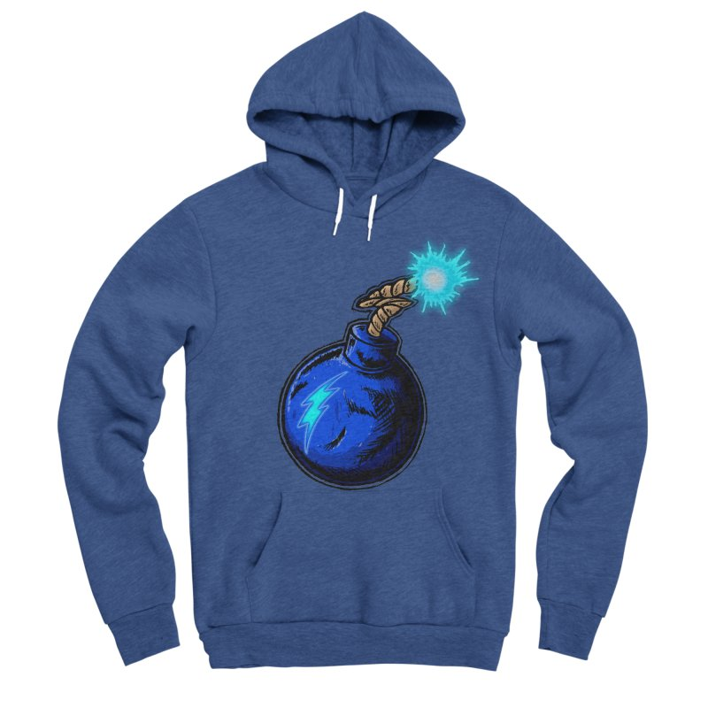 Bomb of Blue Thunder Women's Sponge Fleece Pullover Hoody by inbrightestday's Artist Shop
