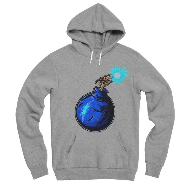 Bomb of Blue Thunder Men's Sponge Fleece Pullover Hoody by inbrightestday's Artist Shop