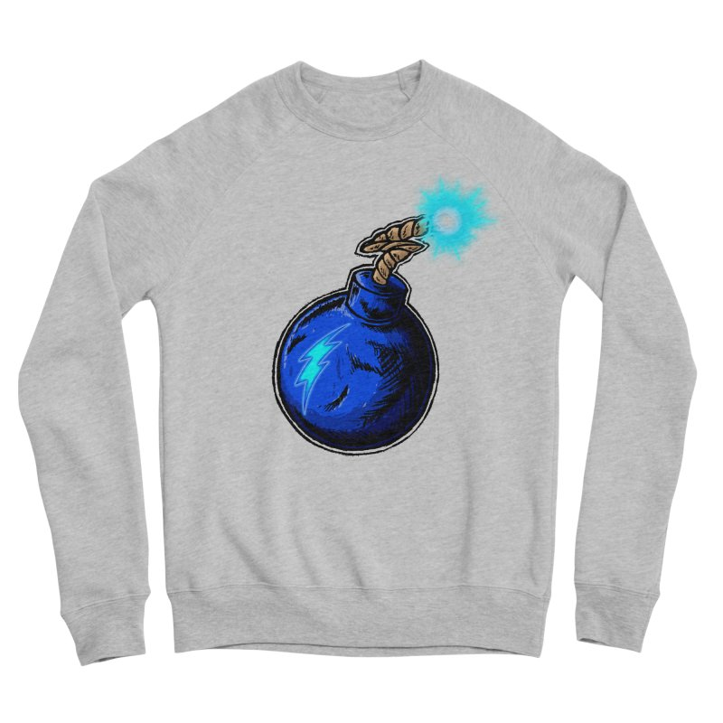 Bomb of Blue Thunder Men's Sponge Fleece Sweatshirt by inbrightestday's Artist Shop