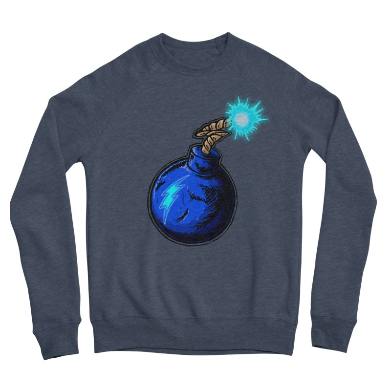 Bomb of Blue Thunder Women's Sponge Fleece Sweatshirt by inbrightestday's Artist Shop