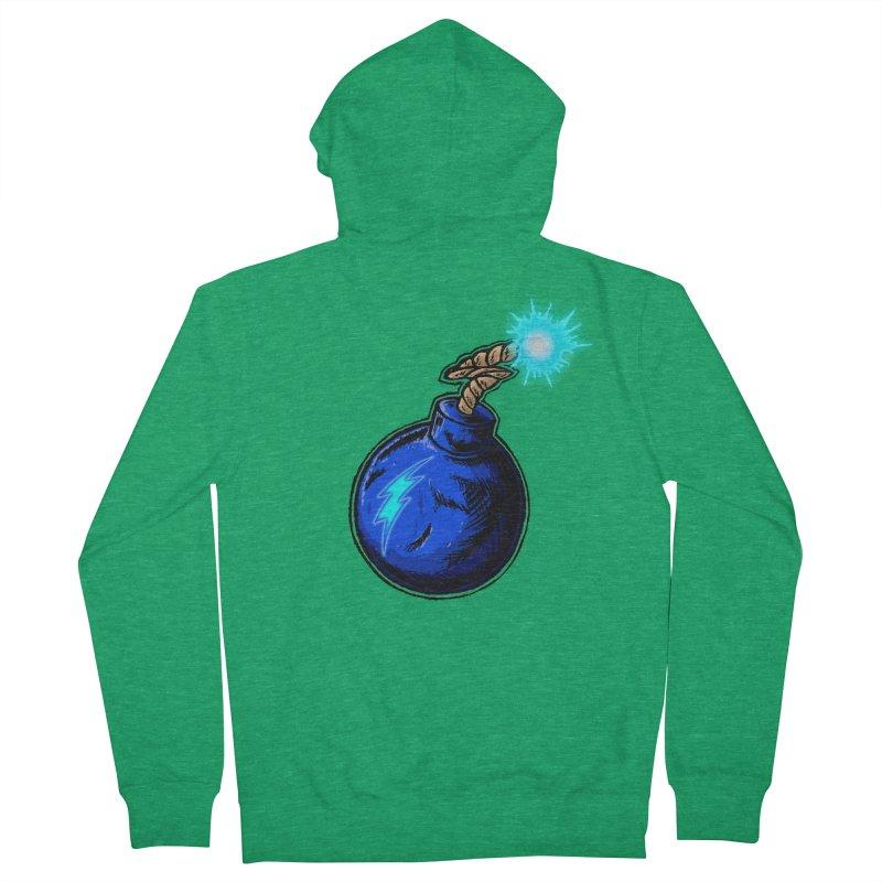 Bomb of Blue Thunder Men's Zip-Up Hoody by inbrightestday's Artist Shop