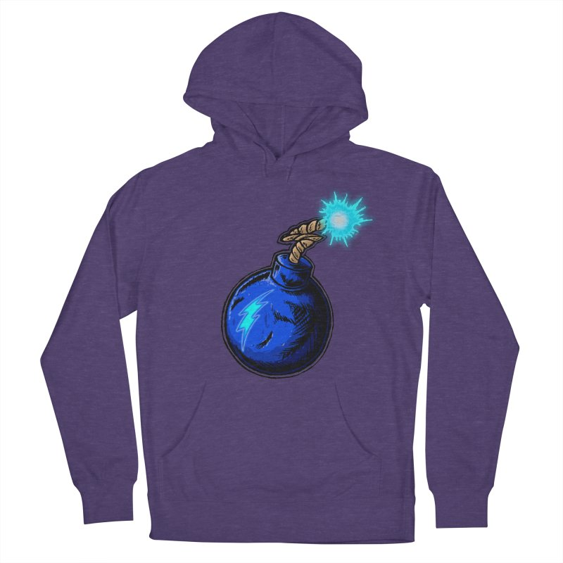 Bomb of Blue Thunder Women's French Terry Pullover Hoody by inbrightestday's Artist Shop