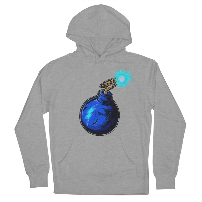 Bomb of Blue Thunder Men's French Terry Pullover Hoody by inbrightestday's Artist Shop
