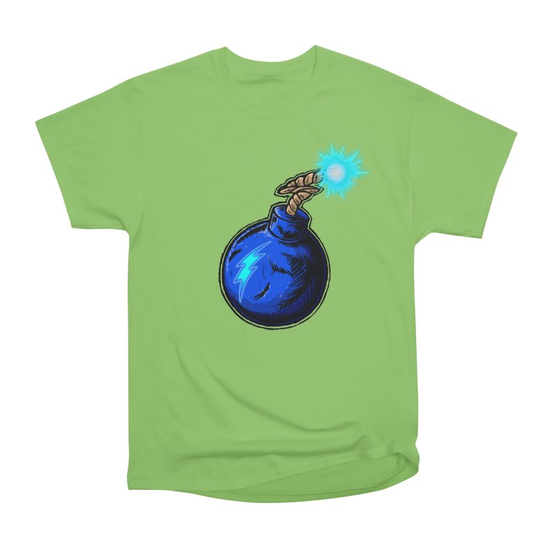 Bomb of Blue Thunder Men's Heavyweight T-Shirt by inbrightestday's Artist Shop