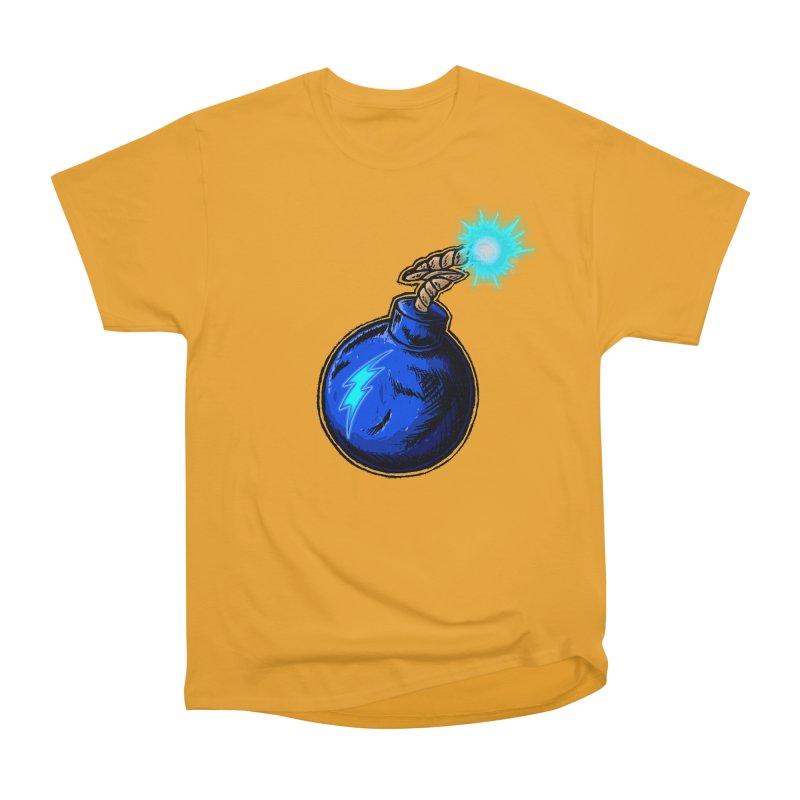 Bomb of Blue Thunder Men's Heavyweight T-Shirt by inbrightestday's Artist Shop