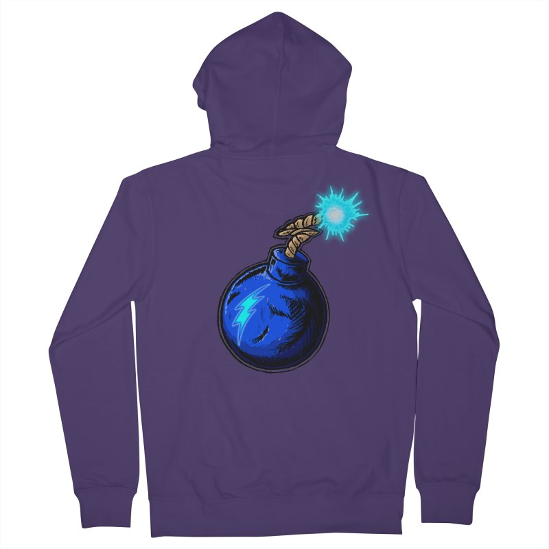 Bomb of Blue Thunder Women's French Terry Zip-Up Hoody by inbrightestday's Artist Shop