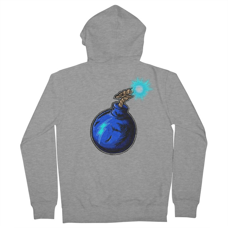 Bomb of Blue Thunder Men's French Terry Zip-Up Hoody by inbrightestday's Artist Shop