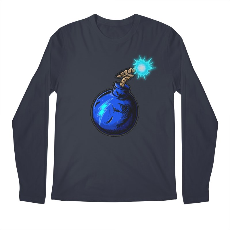 Bomb of Blue Thunder Men's Regular Longsleeve T-Shirt by inbrightestday's Artist Shop