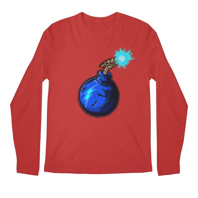 Bomb of Blue Thunder Men's Regular Longsleeve T-Shirt by inbrightestday's Artist Shop