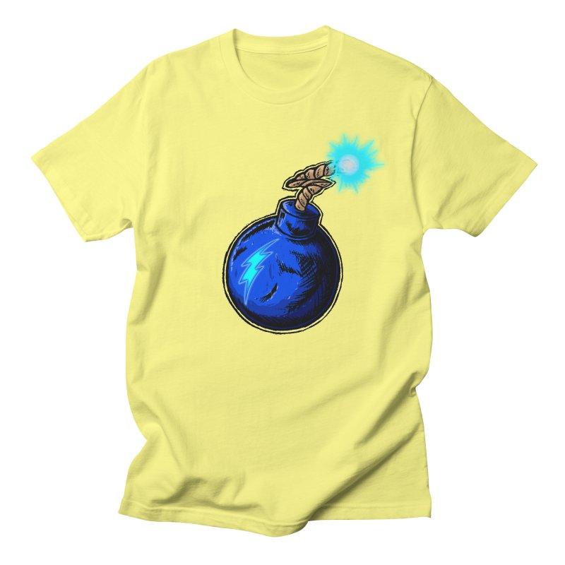 Bomb of Blue Thunder Men's Regular T-Shirt by inbrightestday's Artist Shop